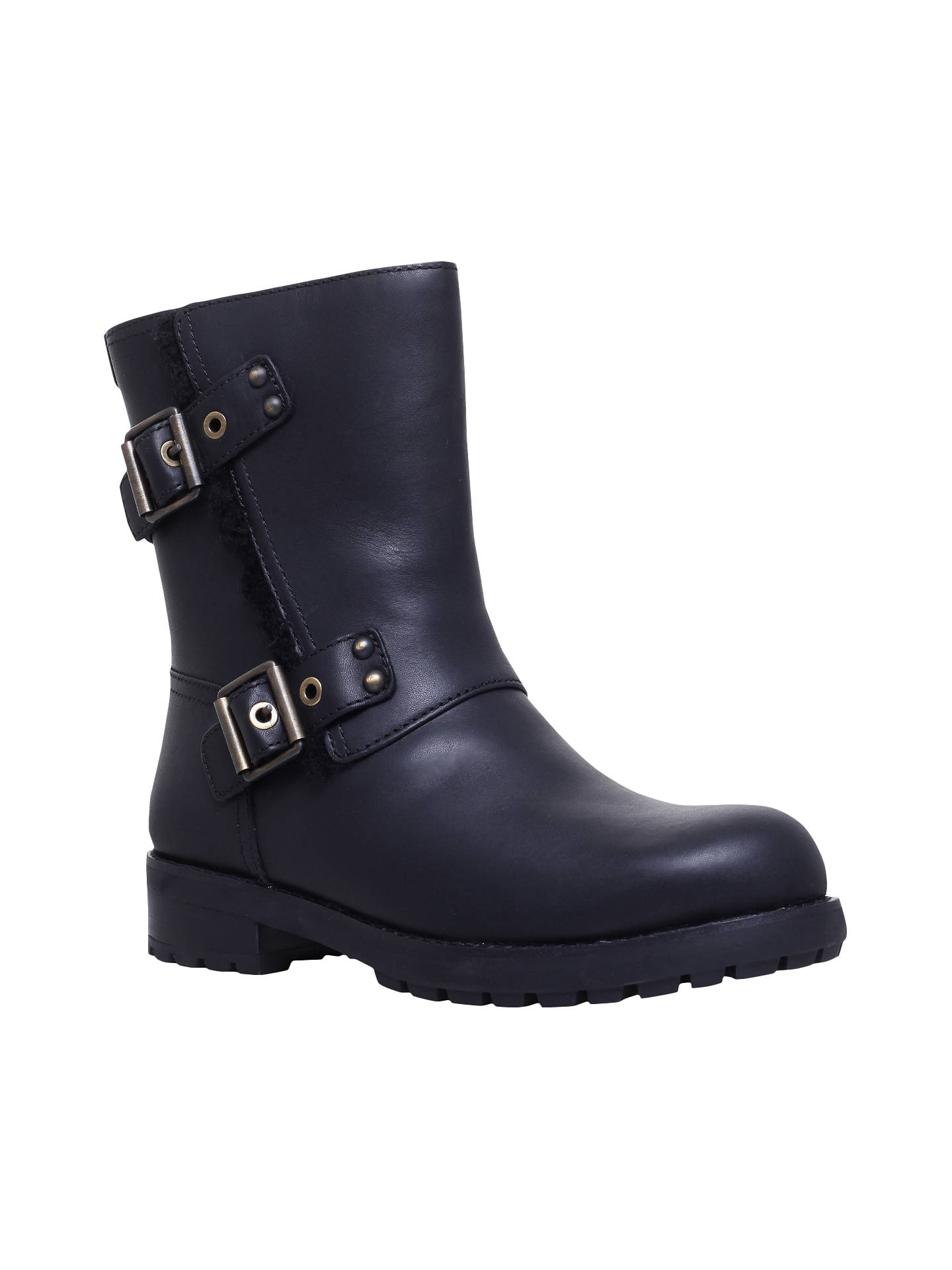 4b4be524e58 UGG Niels Calf High Boots, Black Leather at John Lewis & Partners