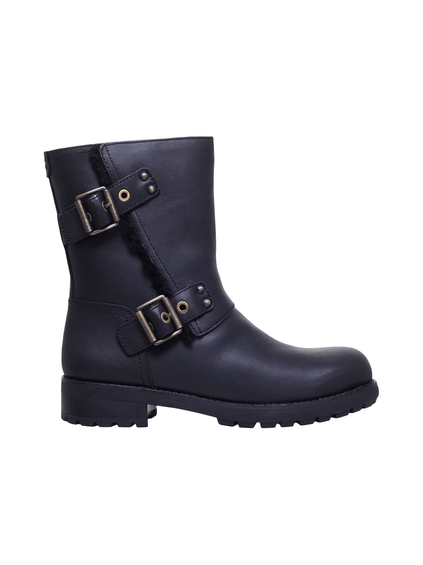 BuyUGG Niels Calf High Boots, Black Leather, 3 Online at johnlewis.com