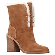 Buy UGG Jerene Sheepskin Block Heel Ankle Boots, Brown Online at johnlewis.com
