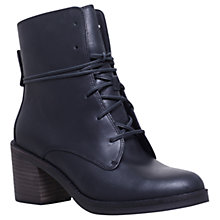 Buy UGG Oriana Lace Up Ankle Boots, Black Leather Online at johnlewis.com