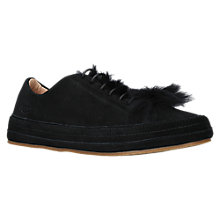 Buy UGG Blake Lace Up Sheepskin Trainers, Black Suede Online at johnlewis.com