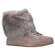 Buy UGG Antoine Faux Fur Cuff Ankle Boots, Dark Grey Suede Online at johnlewis.com