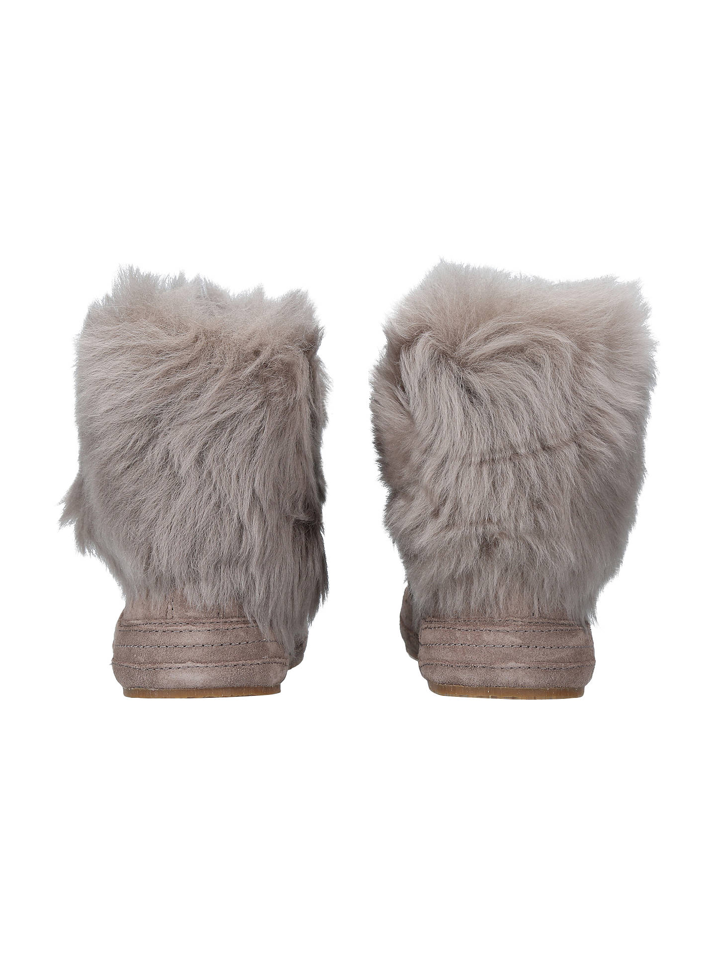BuyUGG Antoine Faux Fur Cuff Ankle Boots, Dark Grey Suede, 3 Online at johnlewis.com