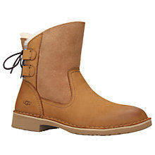 Buy UGG Naiyah Lace Up Ankle Boots, Brown Online at johnlewis.com