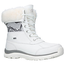 Buy UGG Adirondack III Lace Up Snow Boots, White Leather Online at johnlewis.com