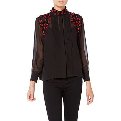 Raishma Roses Shirt, Black