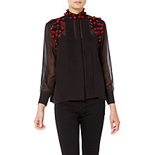 Buy Raishma Roses Shirt, Black Online at johnlewis.com