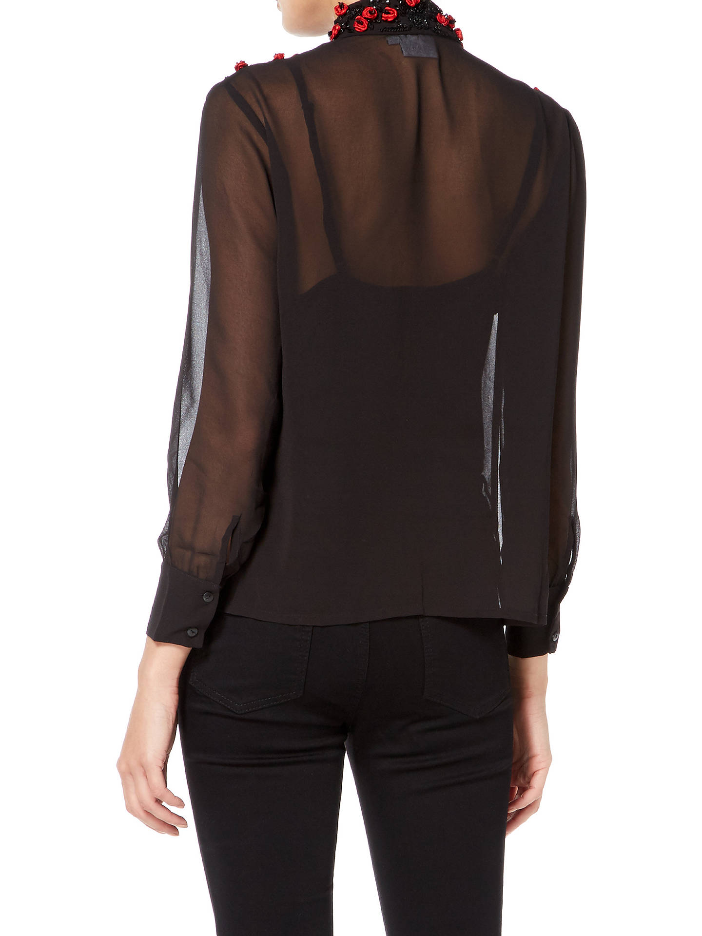 BuyRaishma Roses Shirt, Black, 8 Online at johnlewis.com