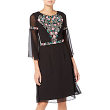Buy Raishma Boho Floral Embroidered Boho Dress, Black Online at johnlewis.com