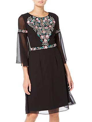 d4b1471d71b Raishma Boho Floral Embroidered Boho Dress, Black