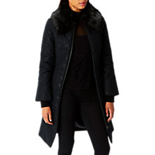 Buy Coast Cadee Lace Padded Coat, Black Online at johnlewis.com