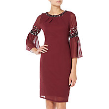 Buy Raishma Midi Dress, Burgundy Online at johnlewis.com