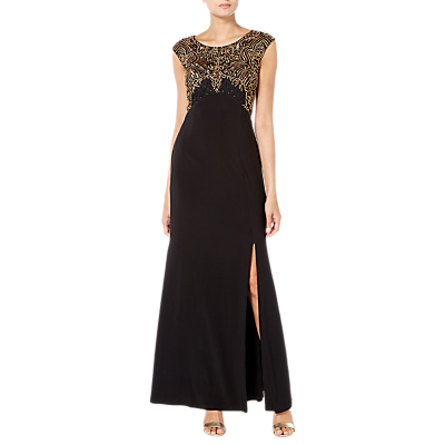 Raishma Embellished Maxi Gown, Black