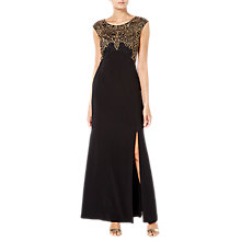 Buy Raishma Embellished Maxi Gown, Black Online at johnlewis.com
