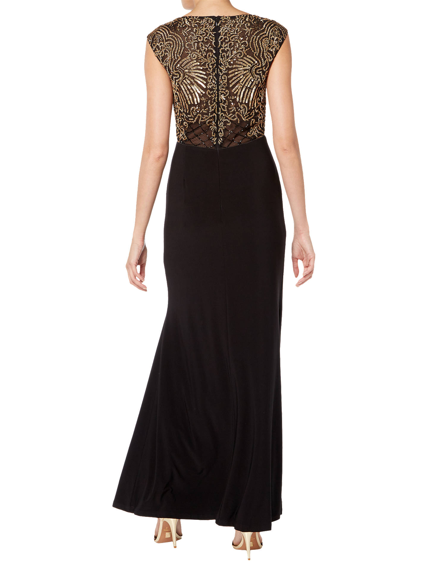BuyRaishma Embellished Maxi Gown, Black, 8 Online at johnlewis.com