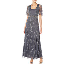 Buy Raishma Ella Embroidered Gown, Charcoal Online at johnlewis.com