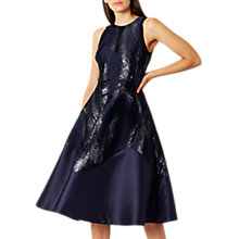 Buy Coast Short Purity Jacquard Dress, Navy Online at johnlewis.com