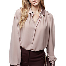 Buy Reiss Keely Pintuck Long Sleeve Blouse Online at johnlewis.com