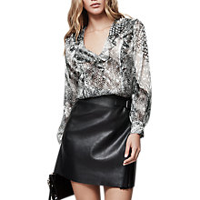 Buy Reiss Lita Printed Ruffle Front Blouse, Multi Online at johnlewis.com