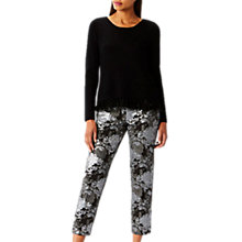 Buy Coast Nele Jacquard Trousers, Black/Silver Online at johnlewis.com