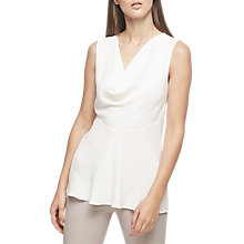 Buy Reiss Reina Cowl Neck Short Sleeve Blouse, Off White Online at johnlewis.com