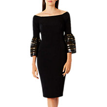 Buy Coast Adriana Bardot Shift Dress, Black Online at johnlewis.com