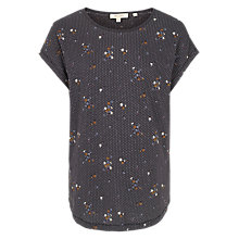 Buy Fat Face Darted Daisy T-Shirt, Grey Online at johnlewis.com