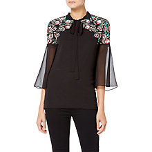 Buy Raishma Boho Sequin Shirt, Black Online at johnlewis.com