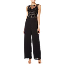 Buy Raishma Adria Jumpsuit, Black Online at johnlewis.com