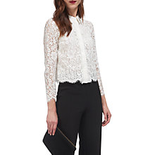 Buy Whistles Suzie Lace Shirt, Ivory Online at johnlewis.com