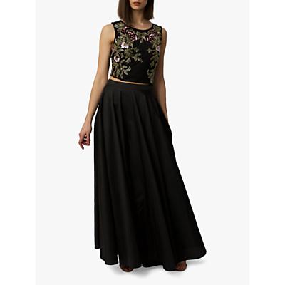 Product photo of Raishma taffeta maxi skirt black
