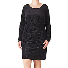 Buy ADIA Burn Out Velour Dress, Black Online at johnlewis.com