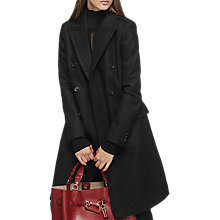 Buy Reiss Betty Military Coat, Black Online at johnlewis.com