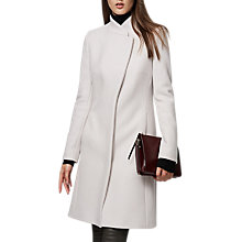 Buy Reiss Lanston Cloud Single Breasted Wool Wrap Coat, Cloud Online at johnlewis.com