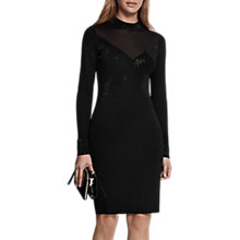 Buy Reiss Seven Hot Fix Dress, Black Online at johnlewis.com