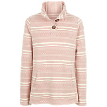 Buy Fat Face Lowick Pattern Half Neck Jumper, Soft Rose Online at johnlewis.com
