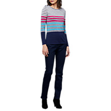 Buy East Merino Stripe Button Jumper, Multi Online at johnlewis.com