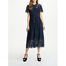Buy Somerset by Alice Temperley Button Through Lace Dress, Navy Online at johnlewis.com