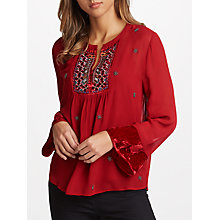 Buy Velvet by Graham & Spencer Becky Beaded Top Online at johnlewis.com