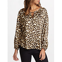 Buy Velvet by Graham & Spencer Tabia Blouse, Leopard Online at johnlewis.com