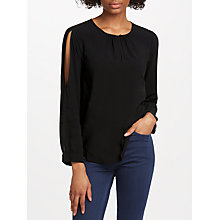 Buy Velvet by Graham & Spencer Gene Top, Black Online at johnlewis.com