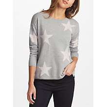 Buy Cocoa Cashmere Multi Star Jumper, Grey/Nude Online at johnlewis.com