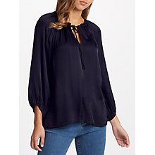 Buy Velvet by Graham & Spencer Rana Satin Blouse, Night Online at johnlewis.com