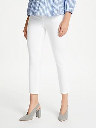 J Brand Ruby High Rise Cropped Jeans, Blanc