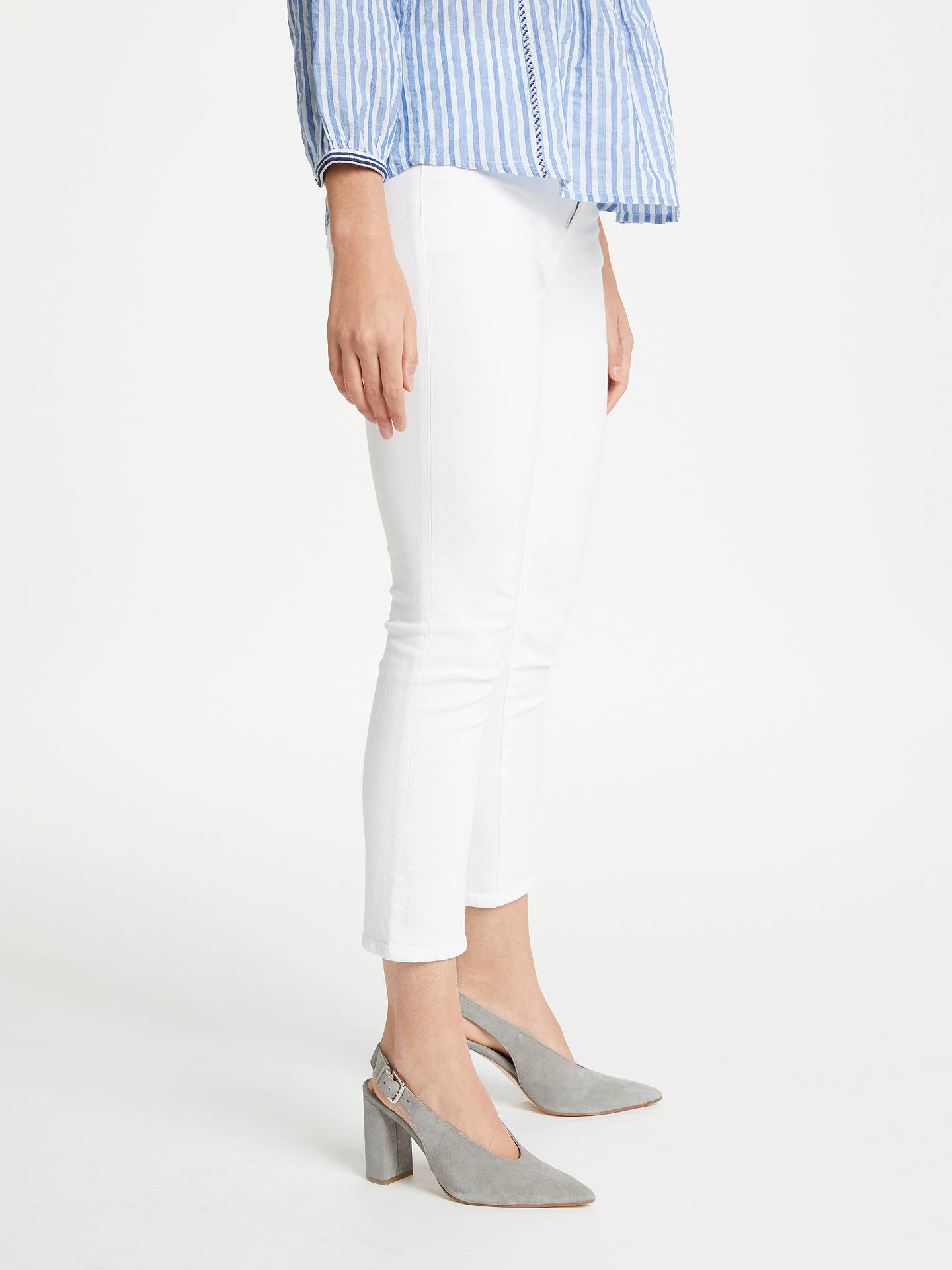 BuyJ Brand Ruby High Rise Cropped Jeans, Blanc, 25 Online at johnlewis.com