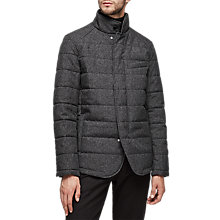 Buy Reiss Hemp Funnel Collar Padded Jacket, Grey Online at johnlewis.com