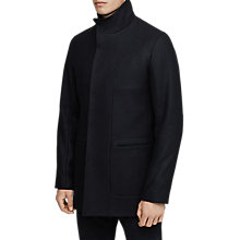 Buy Reiss Brute Wool-Blend Funnel Collar Jacket, Blue Online at johnlewis.com