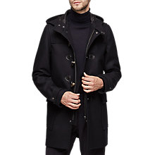 Buy Reiss Samuel Duffle Coat, Navy Online at johnlewis.com