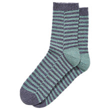Buy Brora Cashmere Rich Striped Bed Socks Online at johnlewis.com