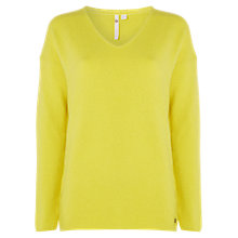 Buy White Stuff Hinterland V Neck Jumper, Citrus Online at johnlewis.com